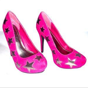 Anne Michelle Heels in Hot Pink